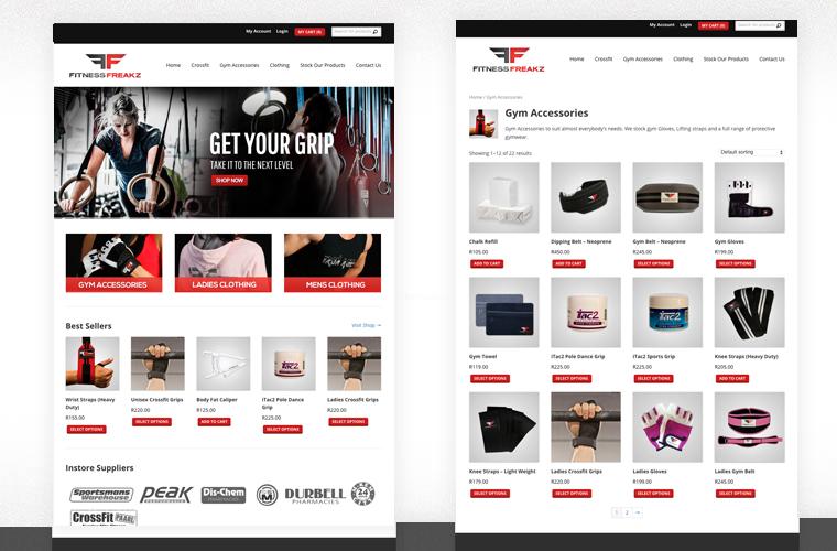 Fitness Freakz Ecommerce Design