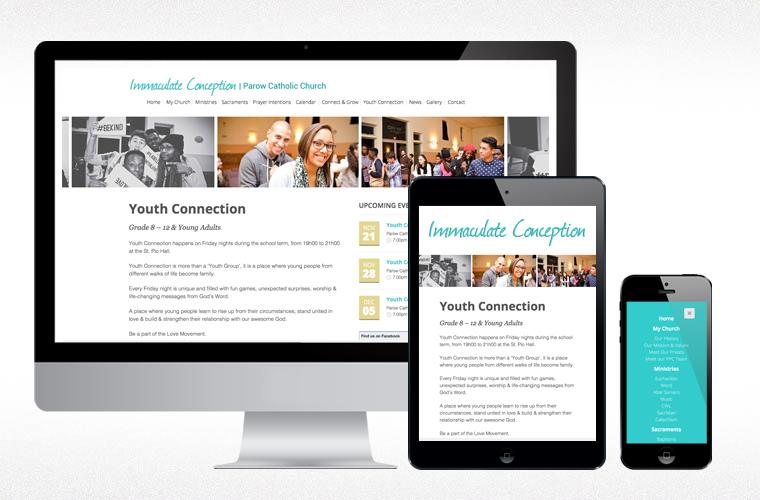 parow catholic website design